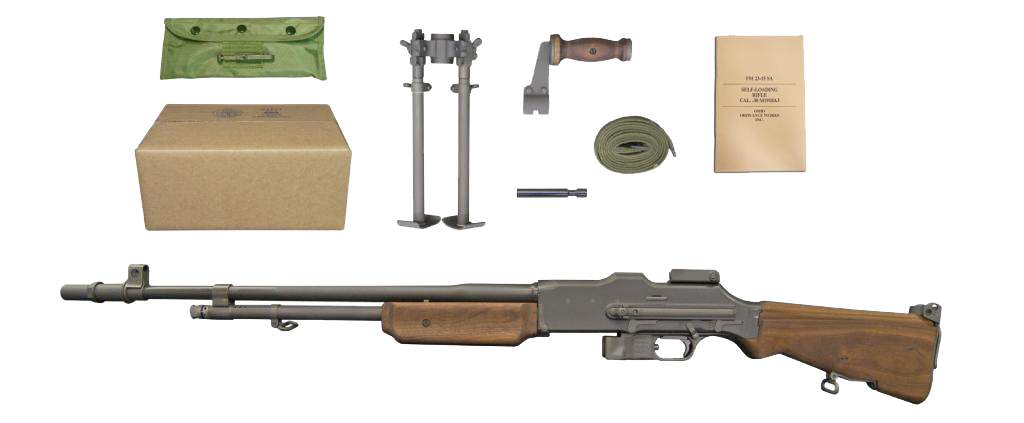 """A2 1918 A1 A3 SLR Browning.30-06 Semi-Auto Self Loading Rifle /""""10 Round/"""" mag"""